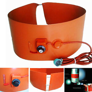 200l 55gallon 220v 1000w Silicon Rubber Band Heater For Metal Oil Drum Heating