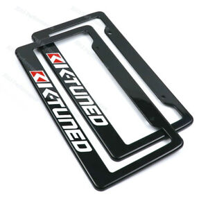 1 Pair Jdm Universal Plastic Racing License Plate Frame Tag Cover Holder