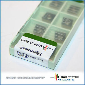 Ccmt 32 52 Pf4 Wpp20 Walter 10 Inserts Factory Pack