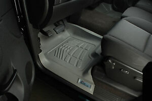 Toyota Tacoma Double Hook 2012 2015 Front Floor Mats Liner Gray 2 Piece
