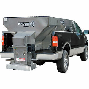Salt Dogg Electric Stainless Steel Hopper Spreader 1 5 Cu Yard Cap 1400701ss