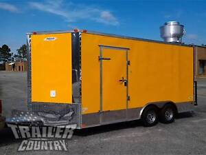 New 2020 8 5x16 8 5 X 16 V nosed Enclosed Concession Food Vending Bbq Trailer