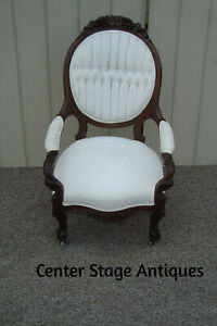 59131 Antique Victorian Carved Armchair Chair Quality