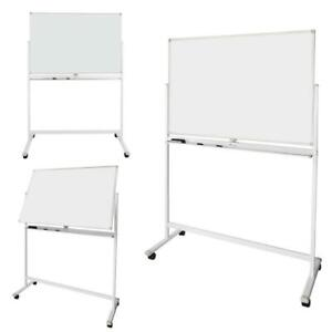 Dry Erase Board Stand Easel Magnetic Double Sided Whiteboard 360 rolling Wheels