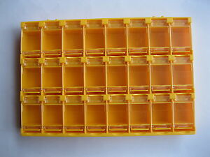 6 Pcs Smt Electronic Component Mini Storage Box 24 Grid Orange Color T156 New