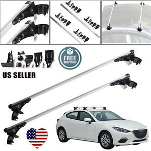 47 Car Top Luggage Cross Bar Roof Rack Carrier Skidproof For 2006 2017 Mazda 3