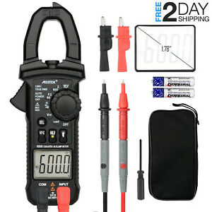 Digital Clamp Meter Mestek Ac Dc Multimeter Current Voltage Voltmeter Test Kit