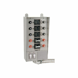 Reliance Loadside Generator Transfer Switch 50 Amp 10 Circuit 51410c