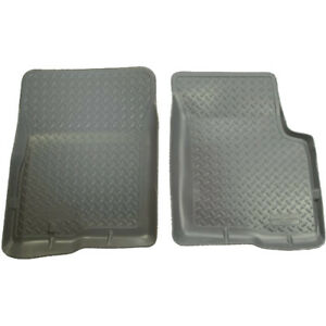 35452 Husky Liners Grey Front Floor Mats For Toyota Tacoma Double Cab 2001 2004