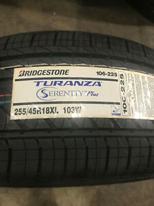 1 New 255 45 18 Bridgestone Turanza Serenity Plus Tire