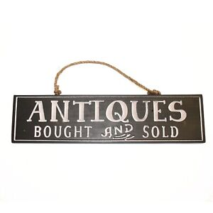 Antique Bought And Sold Wood Sign Engraved Letters For Dealers Collectors 18