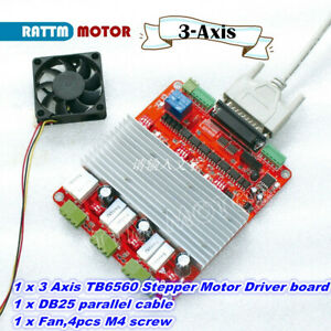 3 axis High Speed Optocoupler Cnc Controller Tb6560 Stepper Motor Driver Board