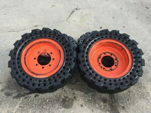 S300 Bobcat 30x10 16 Cushion Tires And Wheels