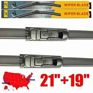For Honda Civic 2001 2005 21 19 Windshield Wiper Blades U J Hook Set Of 2