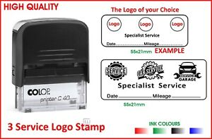 Colop Self Inking Stamp 55mm Service 3 Logo Car Approved Personal Logos Only