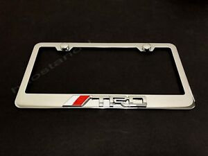 1x Trd3d Emblem Stainless Steel License Plate Frame Rust Free Screw Cap