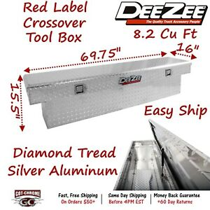 Dz8270a Dee Zee Silver Red Label Easy Ship Tool Box 69 75 X 16 X 15 5