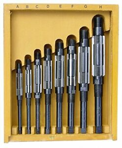 Adjustable Hand Reamer 8 Pcs Set 15 32 1 1 16 New Boxed Expanding Reamer