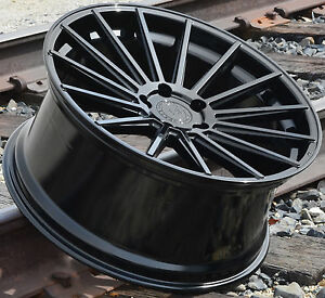 22x9 22x10 5 Rf15 Wheels For Porsche Cayenne Panamera Gloss Black 22 Rims Set 4