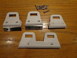 68 70 Mopar A B Body Charger Gtx Dart White Bucket Rear Seat Belt Clips