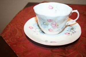 Vintage Queen S Fine Bone China Floral Cup And Saucer Made In England