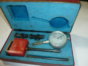 Central Tool Company 1 Inch Dial Indicator With Magnetic Base Vintage Usa