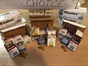 Choice Lot Of 6 New Master Lock Padlocks 3ka Keyed Alike 3210 3623 Or 3781