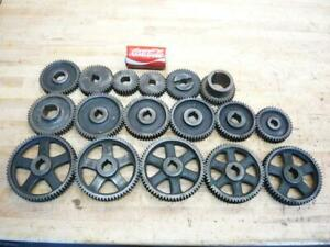 Lot Of Antique Metal Lathe Machine Steel Gears Iron Age Steampunk Industrial Art