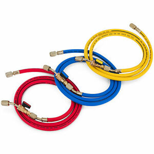 A c Refrigeration Charging Hoses Red Yellow Blue 29983 Compact Ball Valve 36 Us