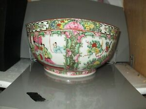 Antique Chinese Porcelain Soup Bowl 11 Inches Across