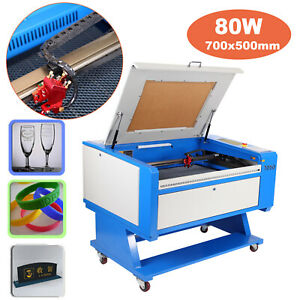 80w Co2 Laser Engraving Cutting Machine Engraver Cutter Usb Port Up