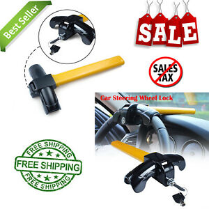 Car Auto Security Rotary Steering Wheel Lock 1 Pc Universal Anti Theft Durable