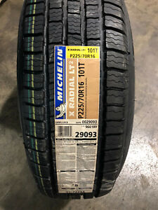 4 New 225 70 16 Michelin X Radial Lt2 Tires