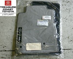 New Oem Toyota Tacoma 05 11 Charcoal Gray Double Cab Floor Mats Clips 4 piece