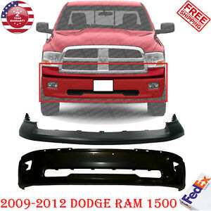 Front Bumper Primed Steel W Fog Holes upper Cover For 2009 2012 Dodge Ram 1500