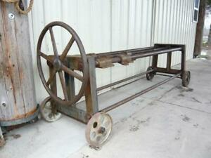 Antique Industrial Cast Iron Drawer Furniture Clamp Vise Factory Table Leg Large
