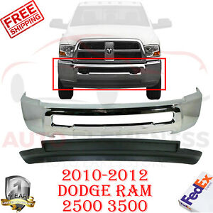 Front Bumper Bar Air Dam W o Fog Hole For 2010 2012 Dodge Ram 2500 3500 4wd