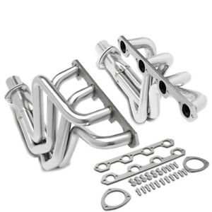 Fit 69 79 Ford F100 5 0l Rwd 302 Pair Stainless Steel Exhaust Manifold Header