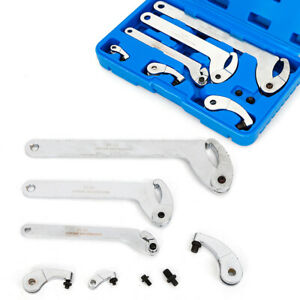 Adjustable Wrench Tool Kit 35 120mm Hook pin Jaw Wrench Spanner C Spanner Tool