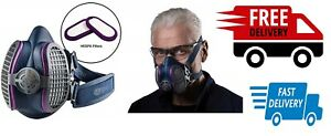 Home Outdoor Safety Security Half Mask Protective Respirator Medium Large Size
