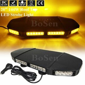 48 Led 20 Amber Warning Emergency Beacon Mini Roof Top Vehicle Strobe Light Bar