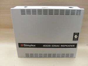 Simplex 4009 9601 Idnac Repeater Panel With Key Fire Alarm