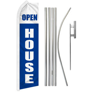 Open House Super Flag Kit Tall Advertising Super Swooper Feather Banner Sign