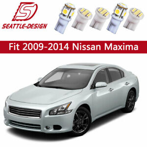 13x White Led Dome Bulbs Interior Light Package Kit For 2009 2014 Nissan Maxima