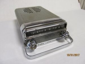 1958 Oldsmobile 88 98 Transportable Delco Glove Box Mounted Working Am Radio 58