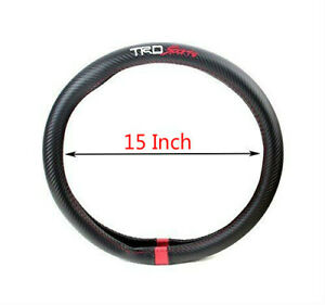Trd Sport Fiber Steering Wheel Cover 15 For Toyota Camry Tundra Tacoma Corolla