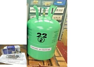 Refrigerant 22 R22 Disposable Cylinder 10 Lb Virgin R 22 Free Ship Kit A8