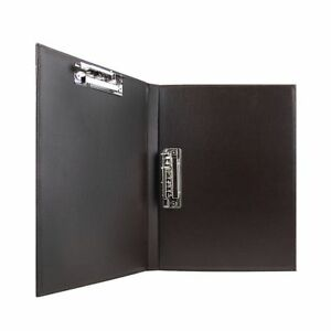 Drawing Writing Sketching Clipboard Metal Clamp File Folder Leather Organizer