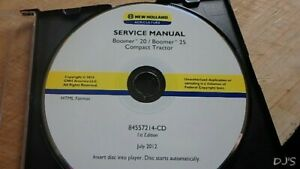 New Holland Boomer 20 25 Tractor Service Manual Cd Dn142