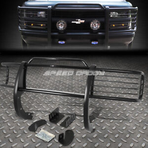 For 88 99 Chevy Gmc Ck Gmt400 Black Coated Mild Steel Front Bumper Grill Guard